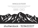 mountains vector background.... | Shutterstock .eps vector #523622227