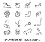 doodle sports idea icons set.... | Shutterstock .eps vector #523630843