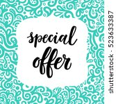 special offer sale poster on... | Shutterstock .eps vector #523633387