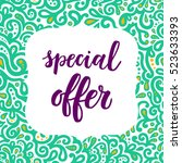 special offer sale poster on... | Shutterstock .eps vector #523633393