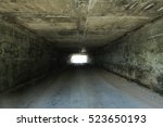 tunnel background and business... | Shutterstock . vector #523650193