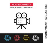 vector movie camera icon. video ...