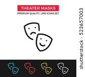 vector theater masks icon....