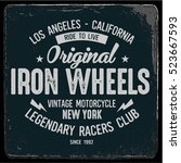 vintage biker graphics and... | Shutterstock .eps vector #523667593