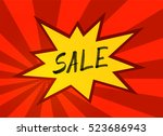 vector comic pop art style... | Shutterstock .eps vector #523686943