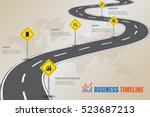 design template  road map... | Shutterstock .eps vector #523687213