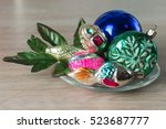 vintage christmas tree...   Shutterstock . vector #523687777