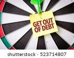 get out of debt | Shutterstock . vector #523714807