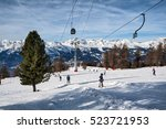 veysonnaz  switzerland  ... | Shutterstock . vector #523721953