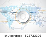 abstract future technology... | Shutterstock .eps vector #523723303