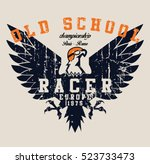 Vintage Race And Eagle T Shirt...