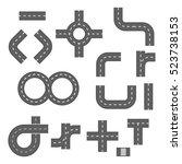 vector illustration of road... | Shutterstock .eps vector #523738153