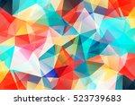 vivid modern geometrical... | Shutterstock .eps vector #523739683