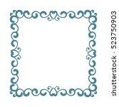 square frame isolated design... | Shutterstock .eps vector #523750903