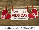 Small photo of World Aids Day card or background.