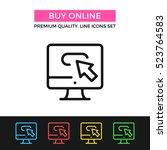 vector buy online icon.... | Shutterstock .eps vector #523764583