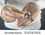 close up shot of a hand holding ... | Shutterstock . vector #523767433