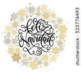 merry christmas in spanish...   Shutterstock .eps vector #523776493