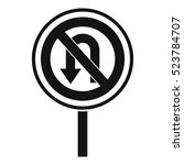 no u turn road sign icon.... | Shutterstock .eps vector #523784707