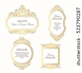 vector set frames  for design... | Shutterstock .eps vector #523790287