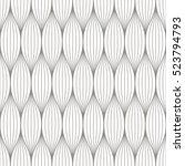 black and white vector seamless ... | Shutterstock .eps vector #523794793