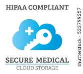 hipaa compliance icon graphic... | Shutterstock .eps vector #523799257