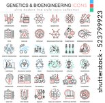vector genetics and... | Shutterstock .eps vector #523799923