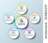 modern infographic design... | Shutterstock .eps vector #523802197