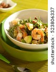Fresh Salad With  Shrimp And...