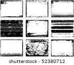 grunge frames | Shutterstock .eps vector #52380712