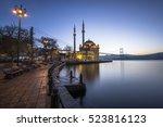 ortakoy mosque in istanbul   Shutterstock . vector #523816123