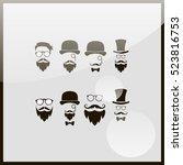 Retro Gentleman Icon Set.