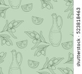 seamless pattern with branch... | Shutterstock .eps vector #523818463