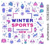 winter sports collection  sport ... | Shutterstock .eps vector #523823803