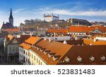 view on old town in bratislava... | Shutterstock . vector #523831483