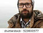 young guy with a beard and... | Shutterstock . vector #523833577