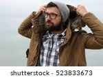 outdoor portrait of a handsome... | Shutterstock . vector #523833673