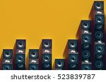 stylish equalizer from the... | Shutterstock . vector #523839787
