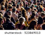 blurred image of people at... | Shutterstock . vector #523869013