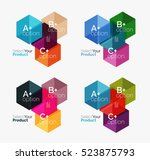 vector business geometric... | Shutterstock .eps vector #523875793