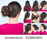 tutorial photo step by step of... | Shutterstock . vector #523882843