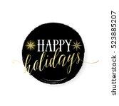 vector illustration of happy... | Shutterstock .eps vector #523885207