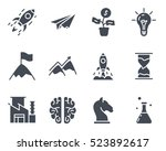 startup icon vector glyph solid ... | Shutterstock .eps vector #523892617