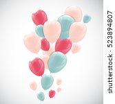 color glossy happy birthday... | Shutterstock .eps vector #523894807
