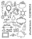 christmas hand drawn design... | Shutterstock .eps vector #523898053