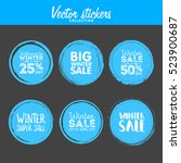 winter sale. vector grunge... | Shutterstock .eps vector #523900687