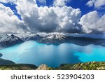 hike to turquoise waters of... | Shutterstock . vector #523904203