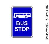 bus stop sign | Shutterstock .eps vector #523911487