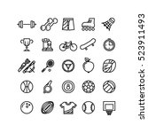 sports outline symbols sports... | Shutterstock . vector #523911493