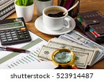 business accounting  | Shutterstock . vector #523914487